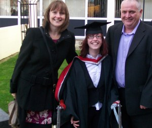 My parents and I am my graduation
