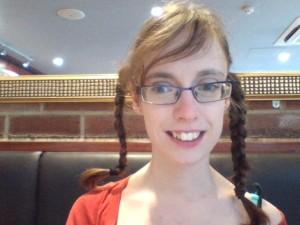 Me with plaited hair