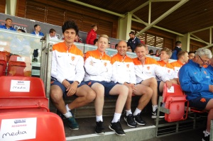 Some of the team from the Netherlands.